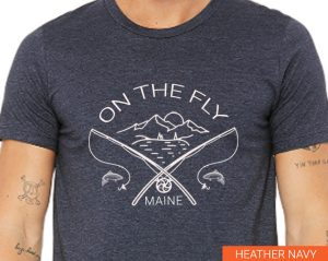 Fly Fishing in Maine T-shirt for Sale